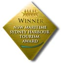 Winner NSW Maritime Sydney Harbour Tourism Award